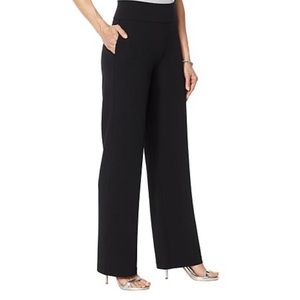 DG2 Diane Gilman Crepe wrinkle resist pants black